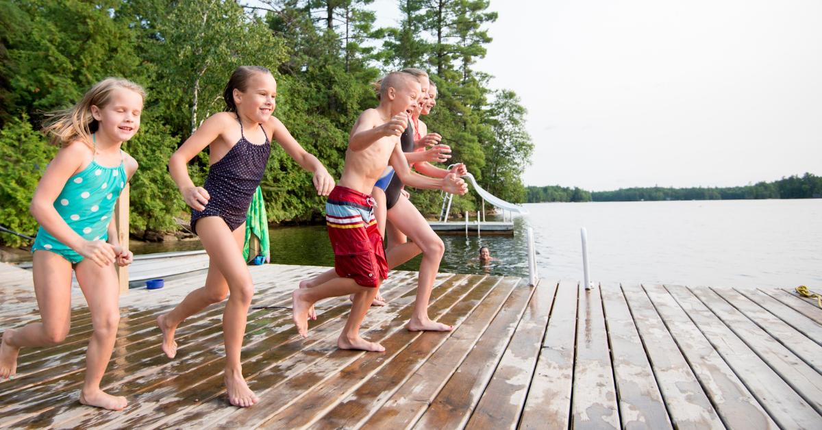 Children playing at Foster Reservoir
